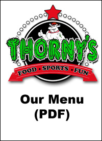 Thorny's Menu